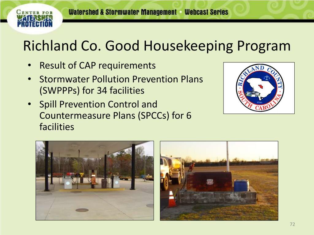 Richland Co. Good Housekeeping Program
