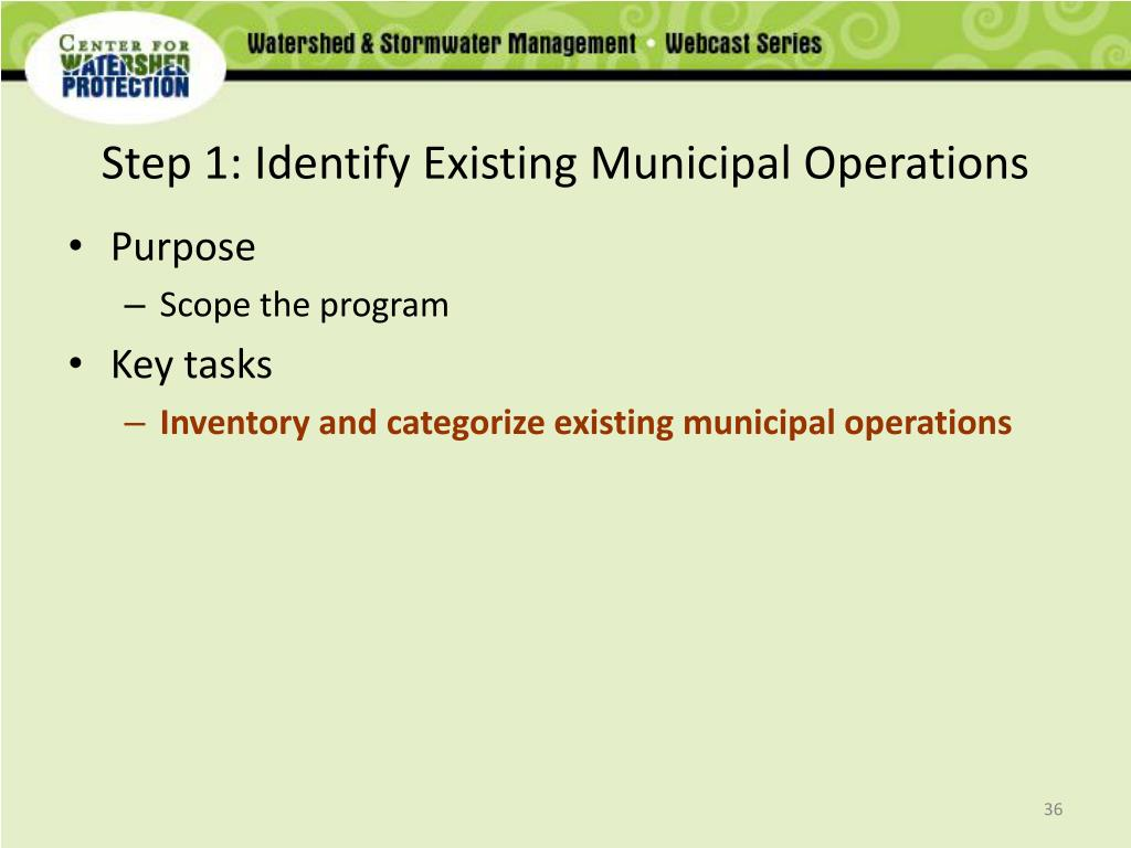 Step 1: Identify Existing Municipal Operations