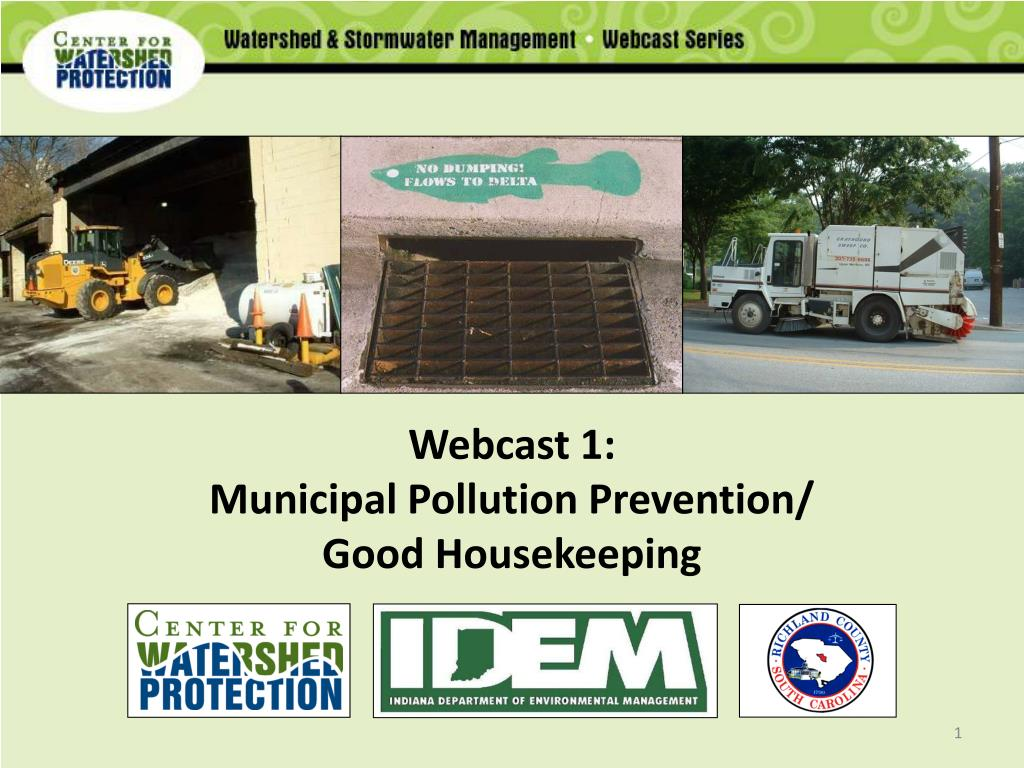 webcast 1 municipal pollution prevention good housekeeping l.