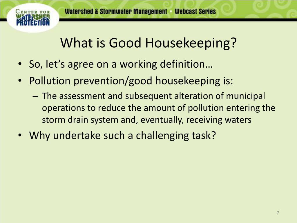 What is Good Housekeeping?