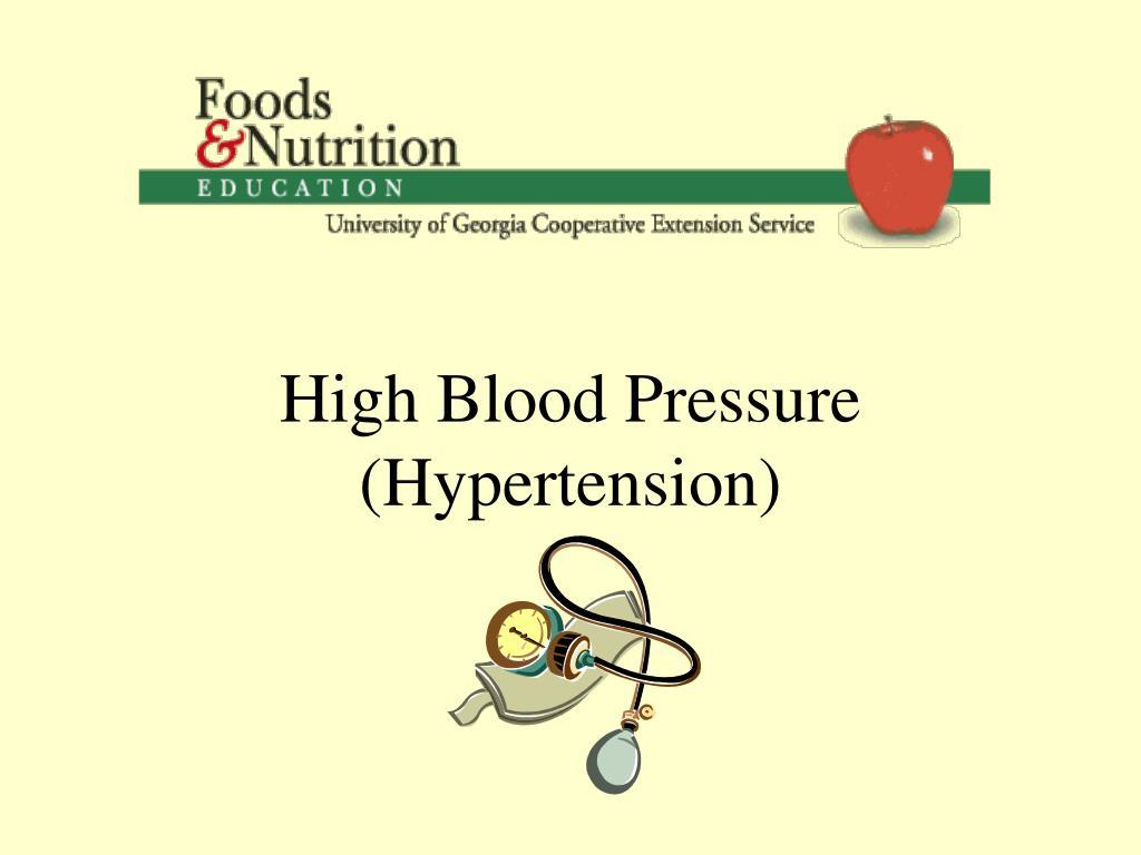 high blood pressure hypertension l.