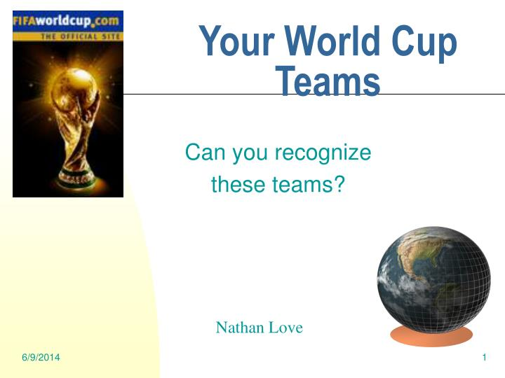 your world cup teams n.