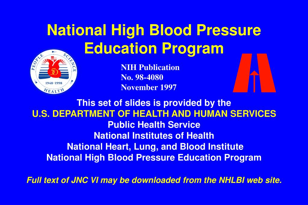 national high blood pressure education program l.