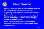 primary prevention