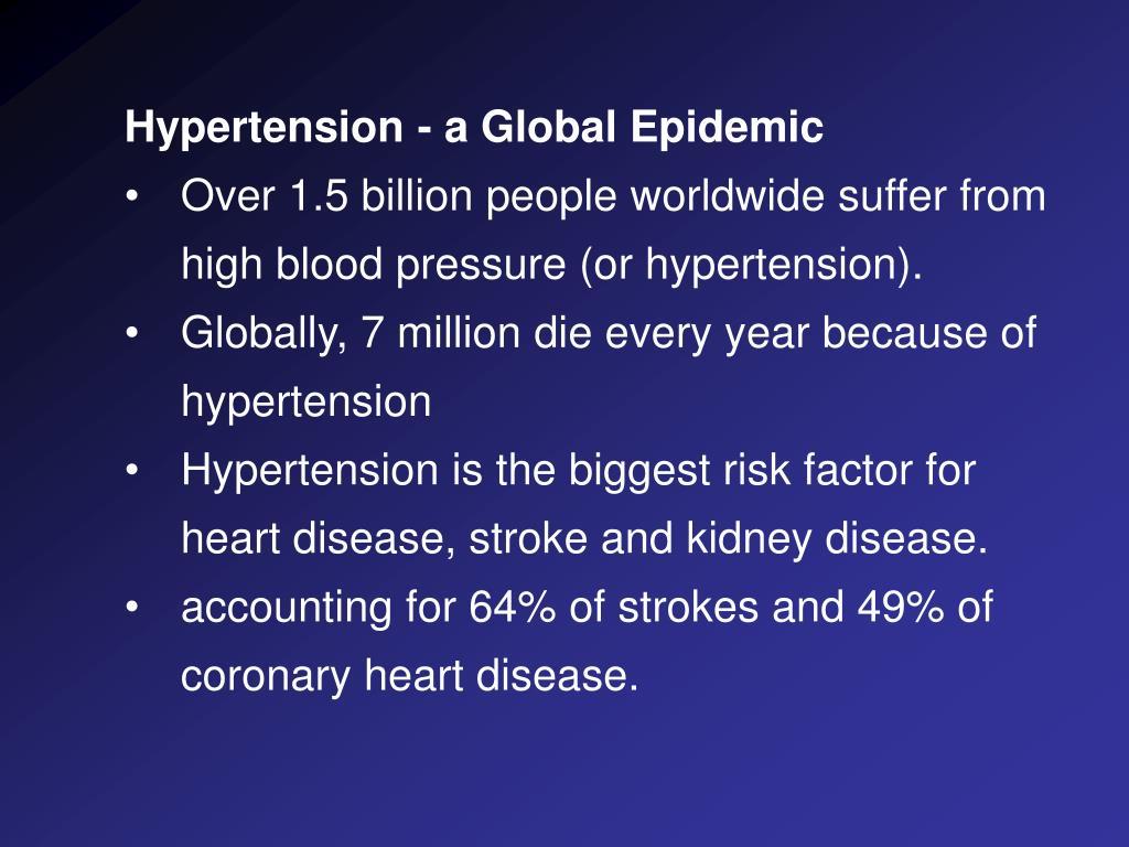Hypertension - a Global Epidemic