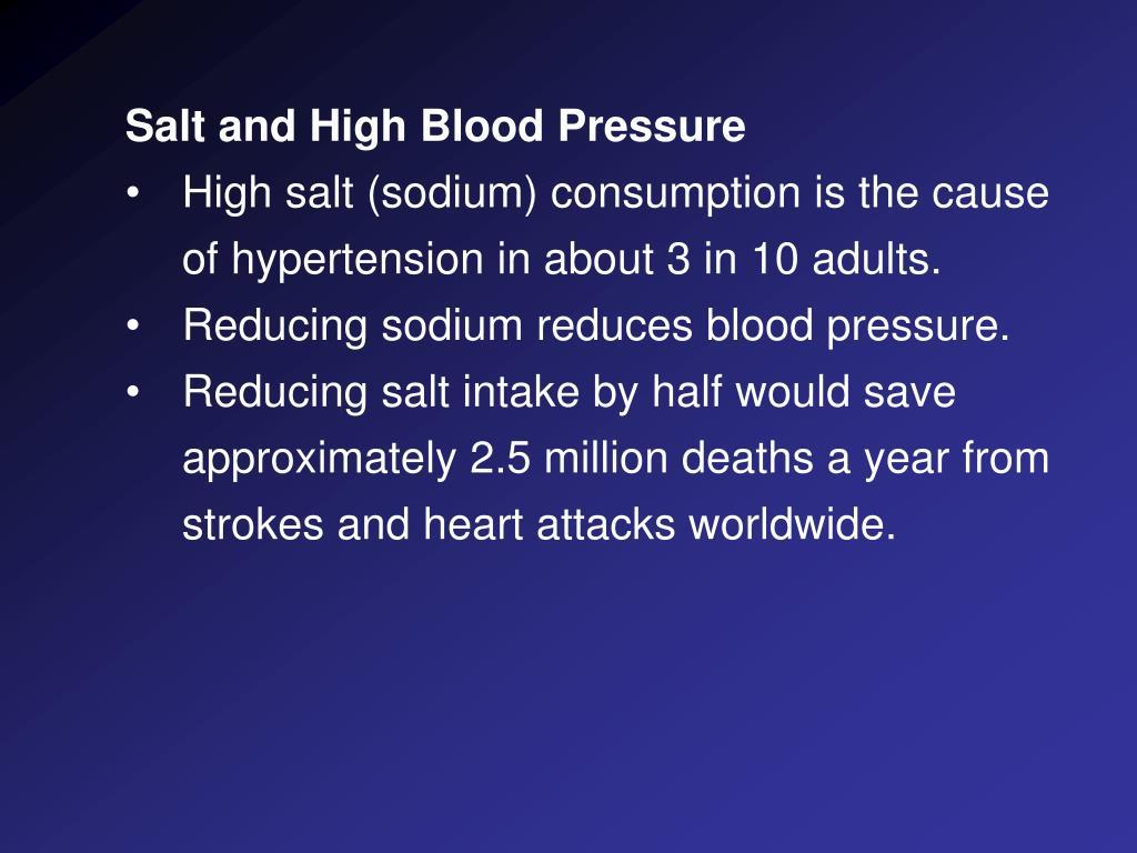 Salt and High Blood Pressure