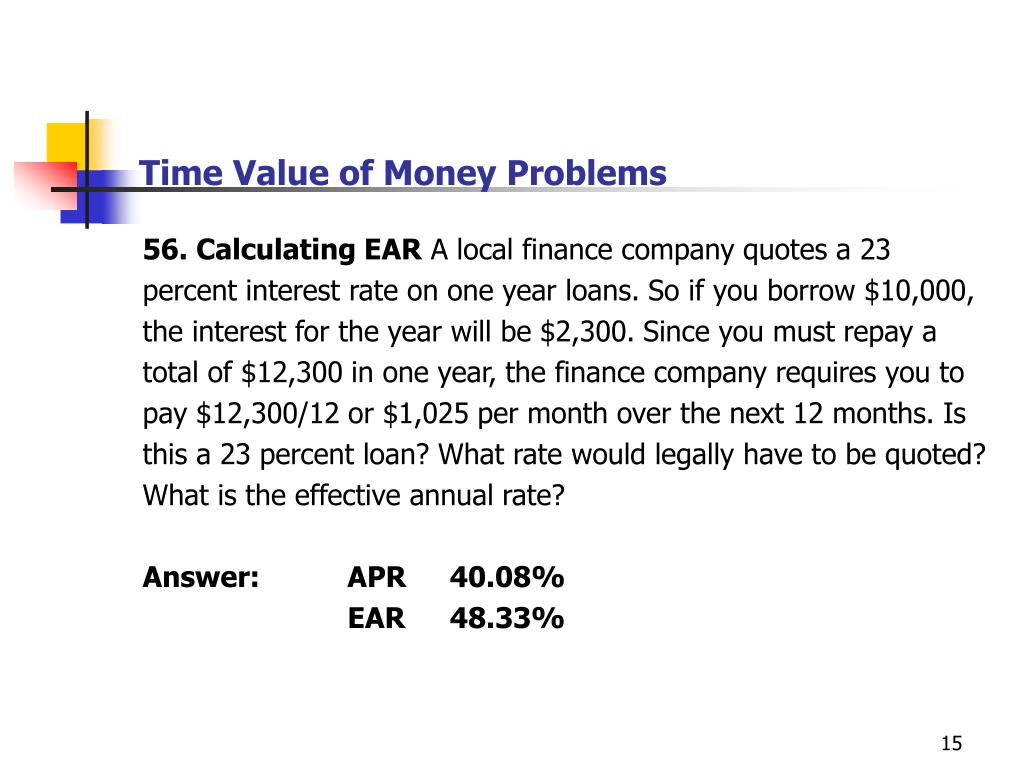 fp120 r8 time value of money