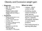 obesity and excessive weight gain
