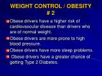 weight control obesity 2