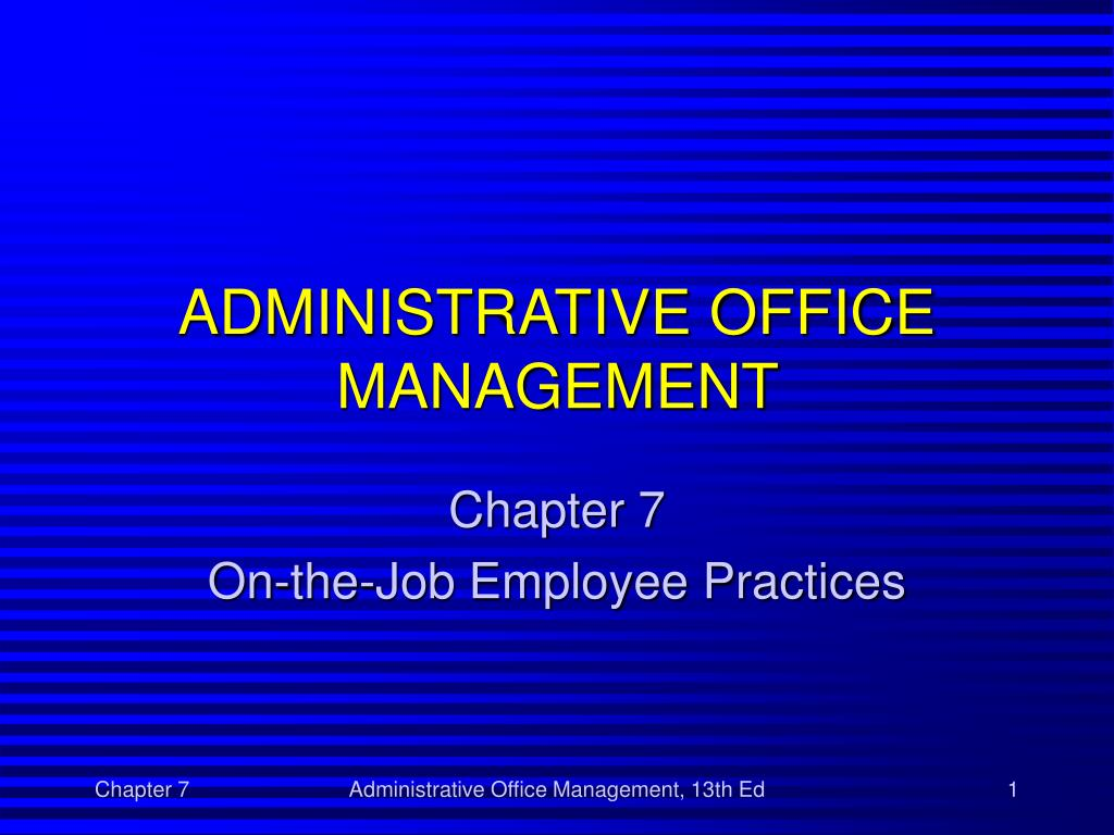 administrative office management chapter 1 Buy administrative medical assisting / with cd 5th edition medical office management textbooks chapter 1 a career as an administrative medical assistant.