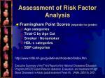 assessment of risk factor analysis