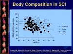 body composition in sci