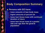 body composition summary