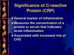 significance of c reactive protein crp