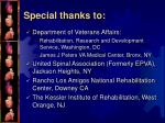 special thanks to