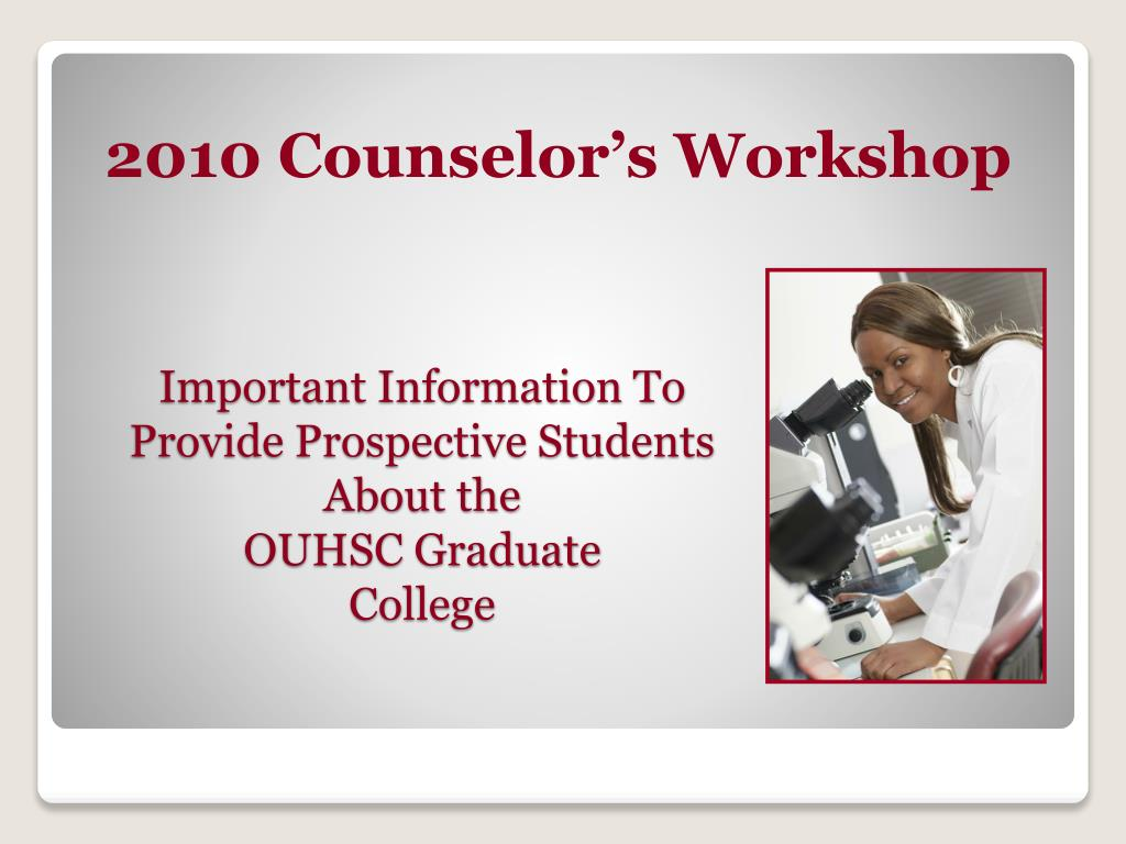 important information to provide prospective students about the ouhsc graduate college l.