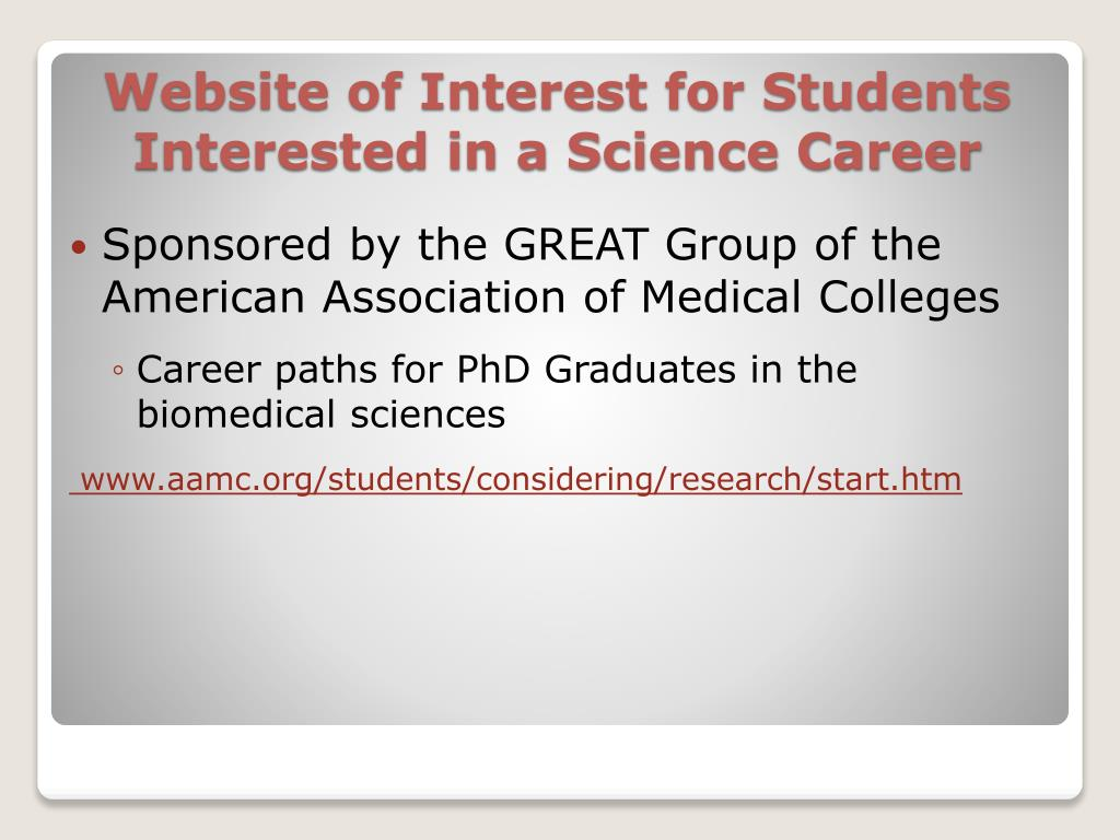 Sponsored by the GREAT Group of the American Association of Medical Colleges