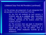 collateral duty first aid providers continued