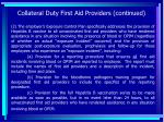 collateral duty first aid providers continued88