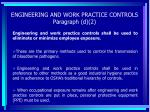 engineering and work practice controls paragraph d 2