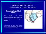 engineering controls lancets which contain the hazard