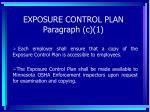 exposure control plan paragraph c 137