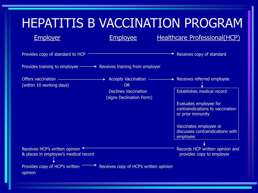 HEPATITIS B VACCINATION PROGRAM