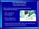 housekeeping decontamination
