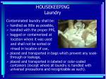 housekeeping laundry