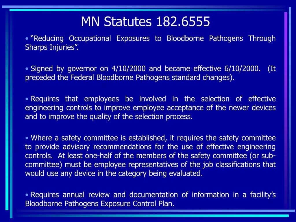 MN Statutes 182.6555