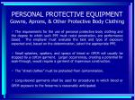 personal protective equipment gowns aprons other protective body clothing68