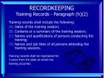 recordkeeping training records paragraph h 2