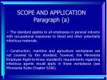scope and application paragraph a