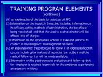 training program elements continued