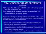 training program elements continued97