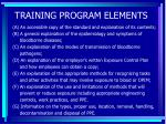 training program elements