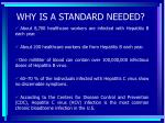why is a standard needed3