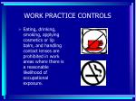 work practice controls57
