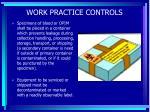 work practice controls61