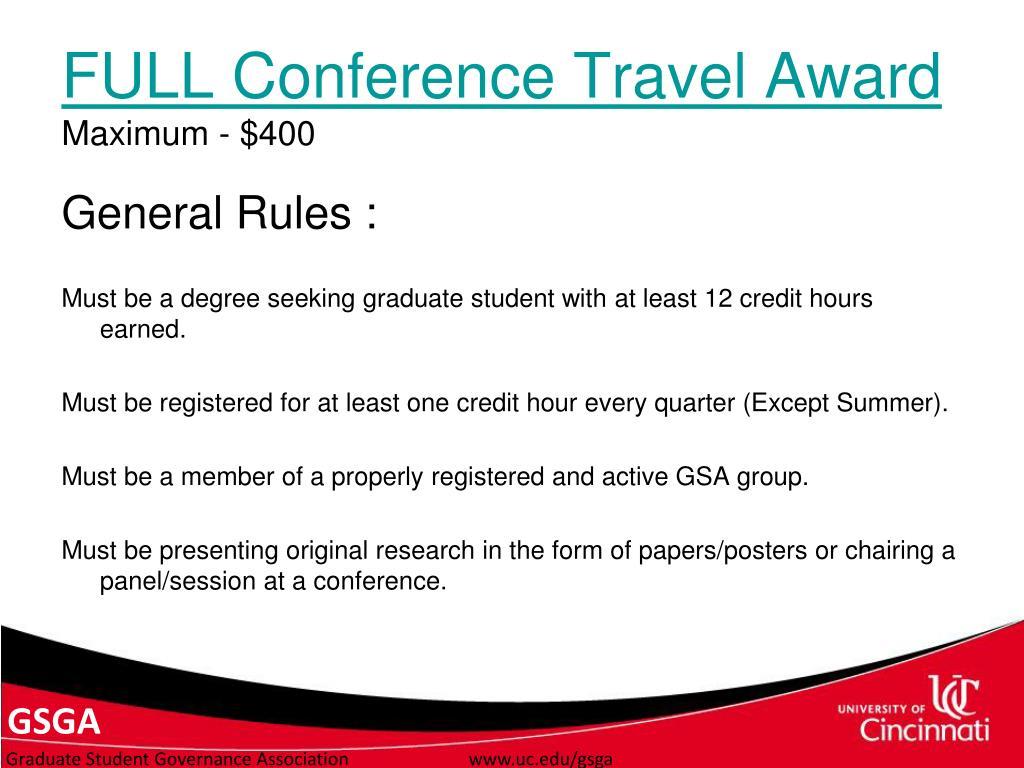 FULL Conference Travel Award