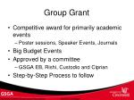 group grant
