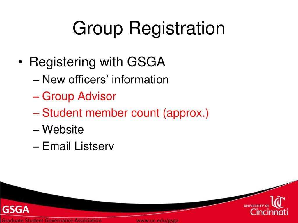 Group Registration