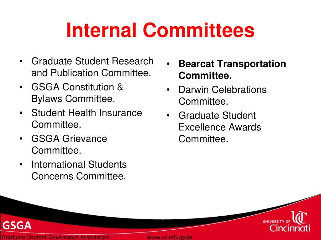 Internal Committees