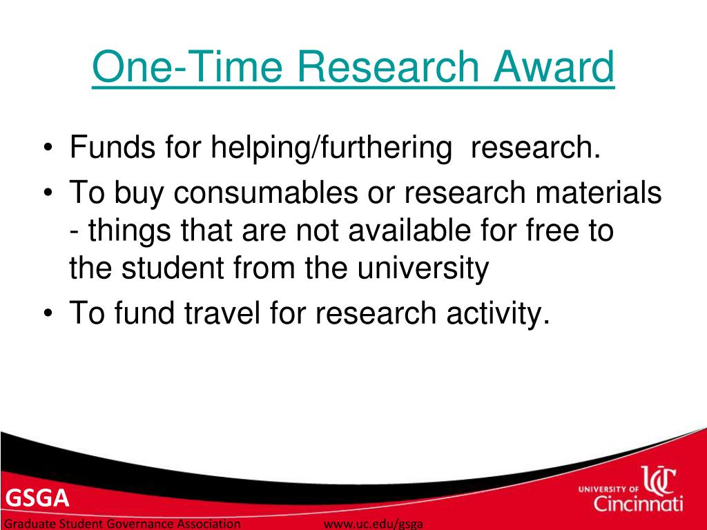 One-Time Research Award