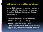 disbursements to non osu participants