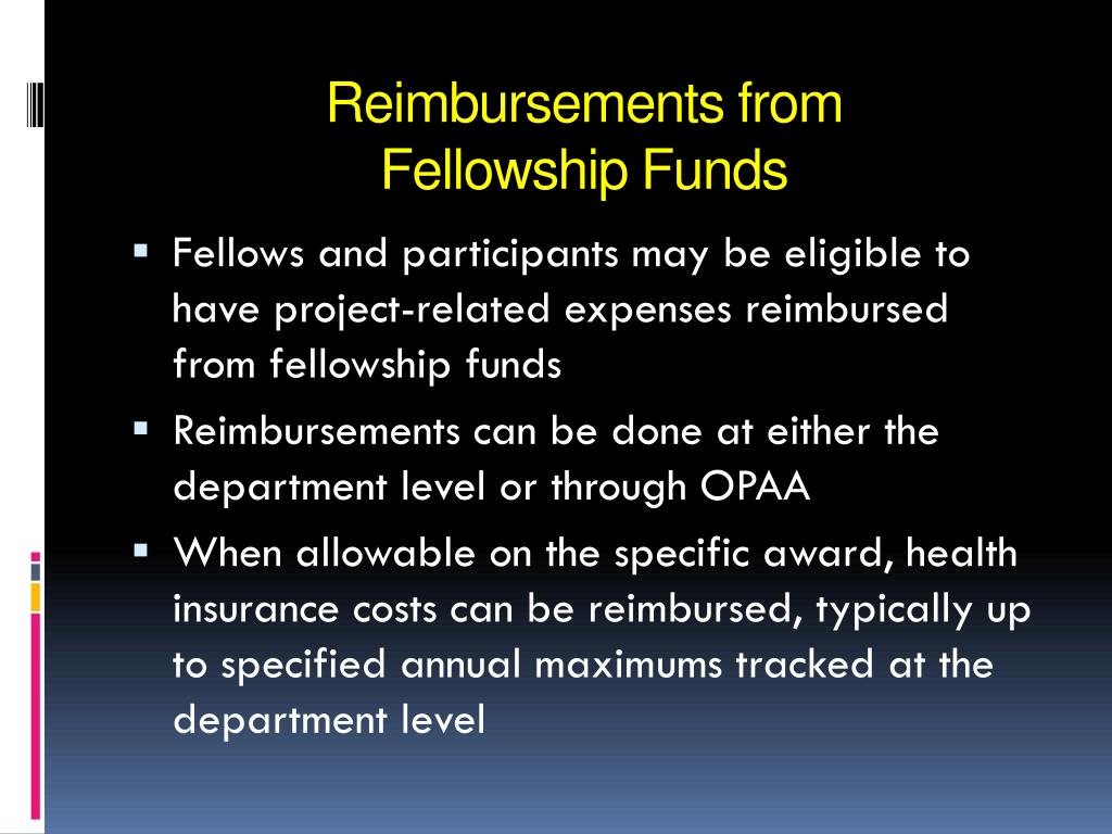 Reimbursements from