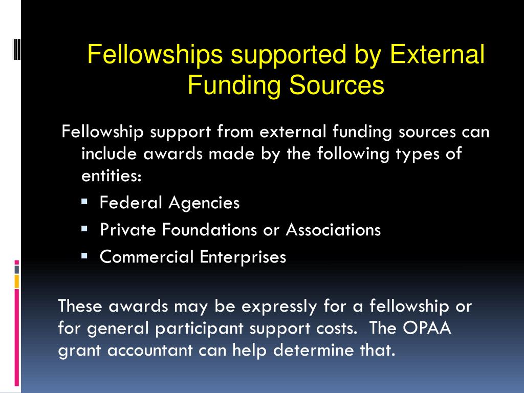 Fellowships supported by External