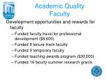 academic quality faculty