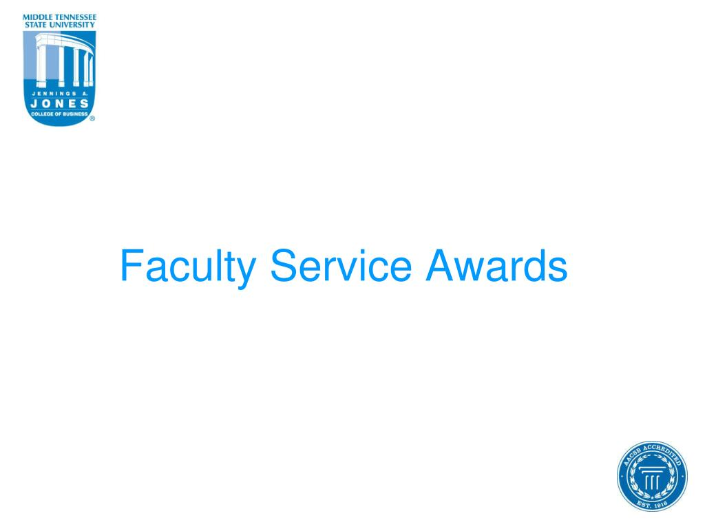 Faculty Service Awards