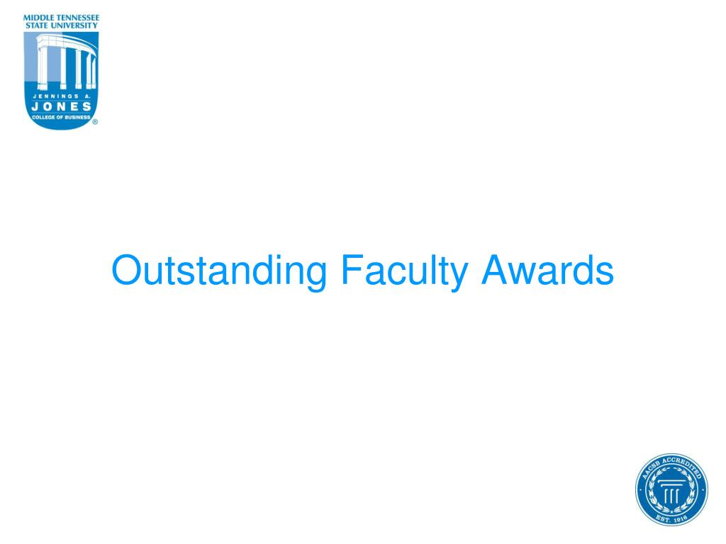 Outstanding Faculty Awards